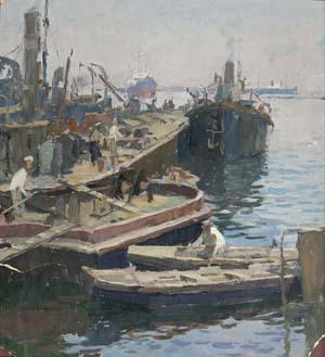 С. Отрощенко «На IV-ом участке», 1946 г.