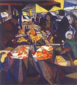 Александр Богомазов. Сенной рынок. Киев. 1914.