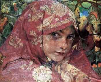 Федор Кричевский «Головка девочки в платке», 1906