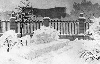 Киев. В надднепровском парке. Линогравюра. 1966