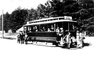 Трамвай святошинской линии на конечной в Святошине. Начало XX века