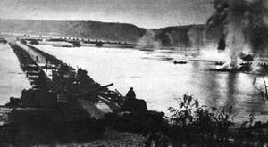 Переправа войск через Днепр в районе Лютежского плацдарма