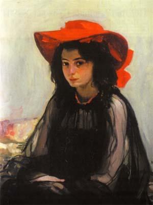 Александр Мурашко<br>«Девушка в красной шляпе», 1902—1903 гг.