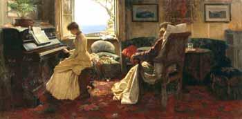 Иван Селезнев «Последний аккорд» (1885).