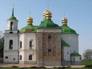 Церковь Спаса на Берестове, где был погребён Юрий Долгорукий.