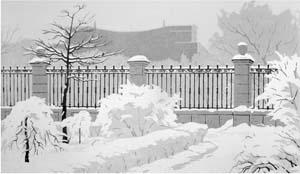 Киев. В Надднепровском парке. Акварель. 1966.