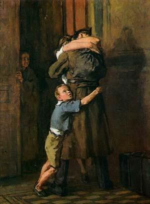 В. Костецкий «Возвращение», 1947 год.