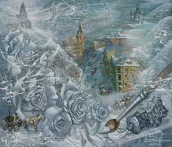 Живопись «Зима на Андреевском спуске».
